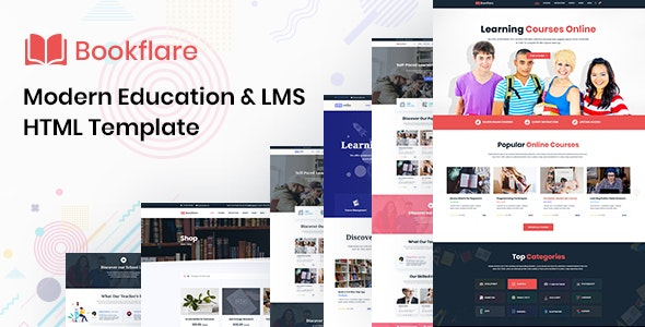 Bookflare A Modern Education & LMS HTML Template