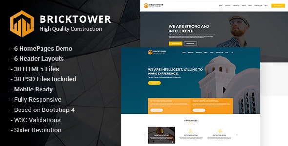 Bricktower Construction and Building Company HTML5 Template