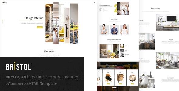 Bristol Interior Architecture Decor Furniture eCommerce HTML Template