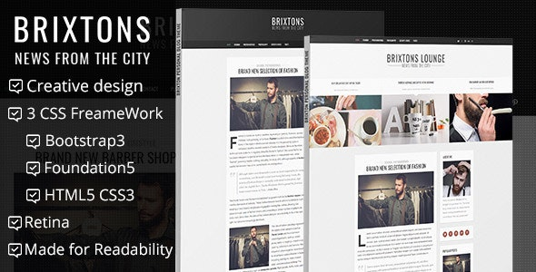 Brixton Minimal And Personal HTML Blog Template