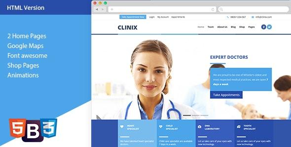 CLINIX Medical HTML Template