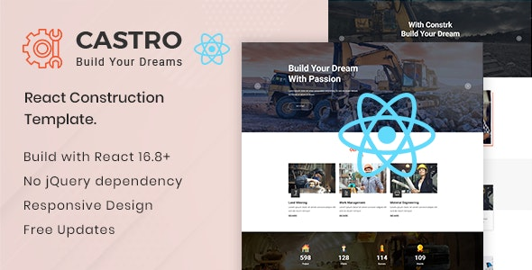 Castro React Construction Template