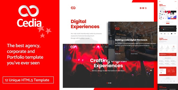 Cedia Creative Agency, Corporate and Portfolio Multi-purpose Template