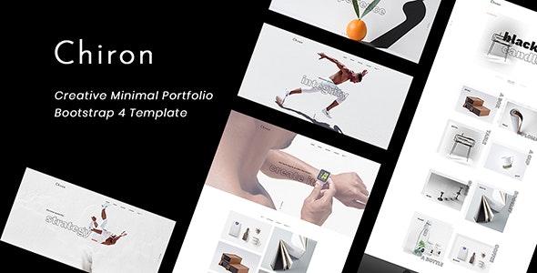 Chiron Creative Minimal Bootstrap 4 Portfolio Template