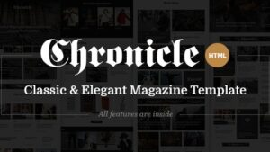 Chronicle Premium News and Magazine HTML5 Template