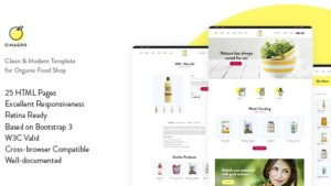 Cinagro Organic Food Shop HTML Template