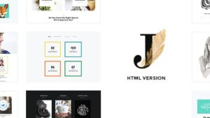 Cindy J Creative Portfolio Blog CV HTML Theme