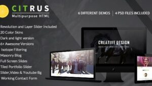 Citrus OnePage Parallax HTML Portfolio