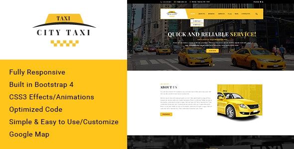 City taxi Responsive HTML Template