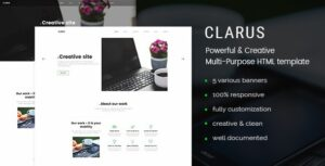 Clarus Mobirise Responsive Business HTML Site Builder