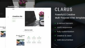 Clarus Mobirise Responsive Business HTML Site Builder