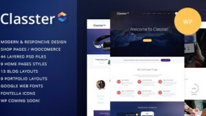 Classter A Colorful Multi-Purpose WordPress Theme