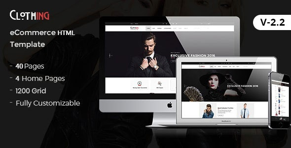 Clothing eCommerce Fashion Template