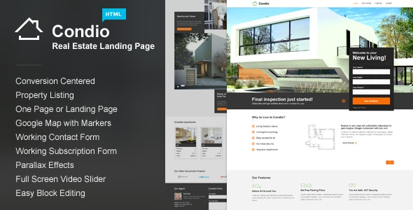 Condio Real Estate Landing Page