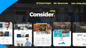 Consider Multi Purpose Responsive HTML5 Template