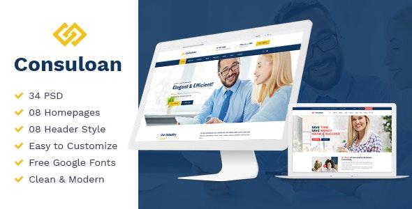 Consuloan Multipurpose Consulting HTML Template