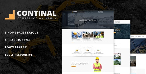 Continal Construction Business HTML5 Template