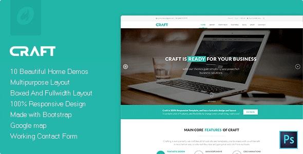 Craft Multipurpose & Responsive HTML Theme
