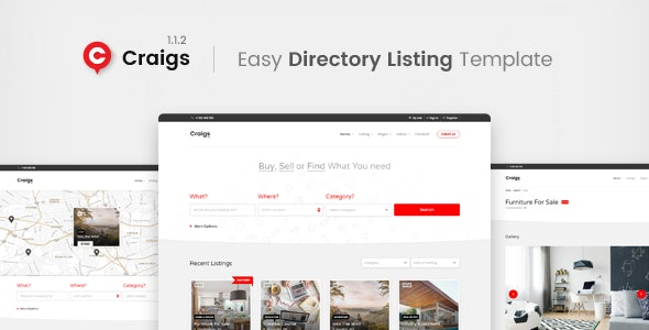 Craigs Directory Listing Template