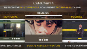 CuteChurch Religion Responsive HTML Theme