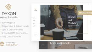 Daxon Agency & Portfolio HTML5 Template