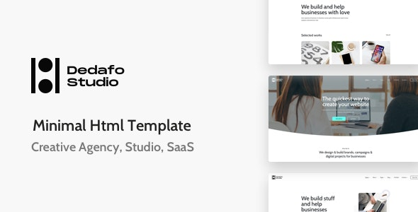 Dedafo Corporate, SaaS, Technology HTML Minimal Template