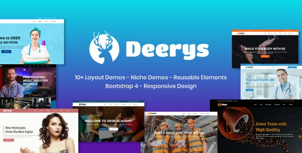 Deerys Responsive Multi-Purpose HTML Template