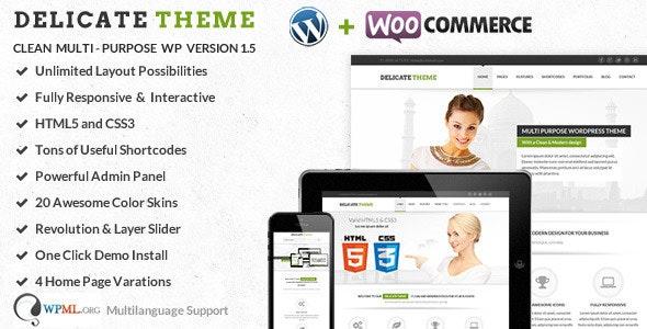 Delicate Multipurpose Responsive HTML5 Template