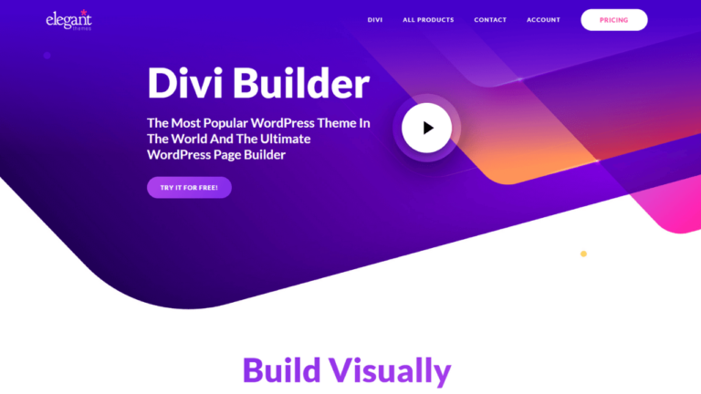 Divi Builder Ultimate Visual Page Builder WordPress Plugin