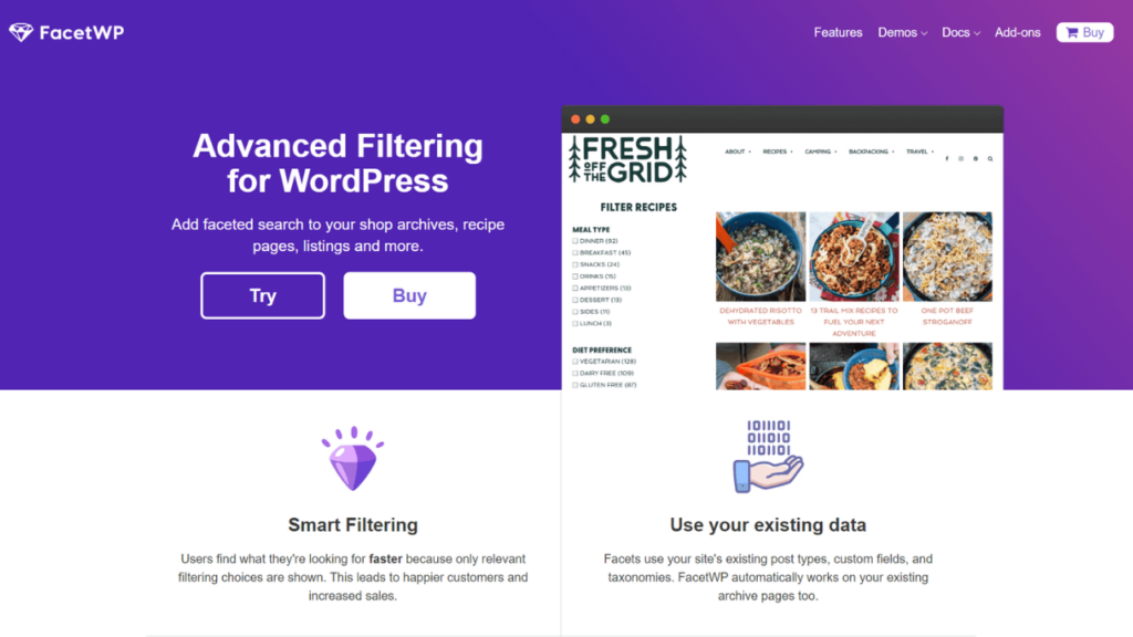FacetWP Filtering and Faceted Search WordPress Plugin