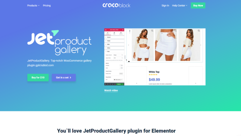 Jet Product Gallery Plugin for Elementor