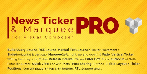 Pro News Ticker & Marquee for WPBakery Page Bilder