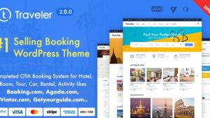 Traveler Travel Booking WordPress Theme