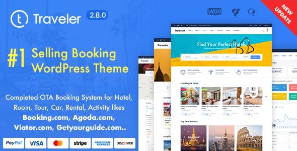 Traveler Travel Booking WordPress Theme