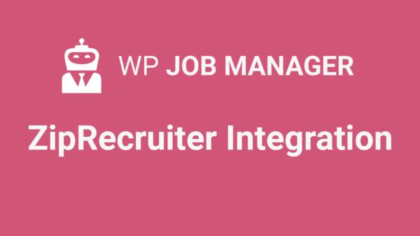 WP Job Manager ZipRecruiter Integration Addon