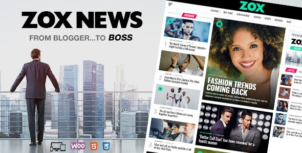 Zox News Professional WordPress News & Magazine Theme