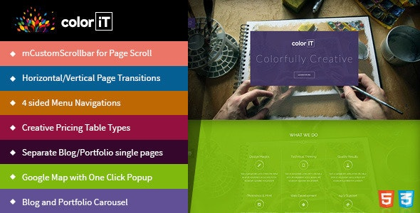 coloriT Portfolio Single Page HTML