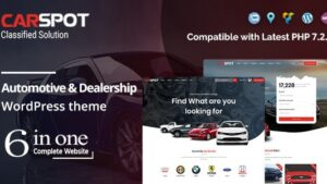 CarSpot Dealership Wordpress Classified Theme