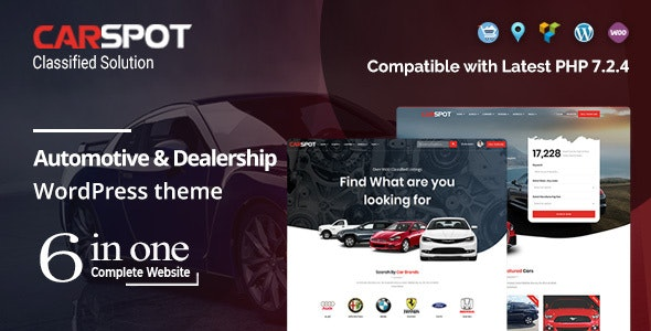 CarSpot Dealership Wordpress Classified Theme
