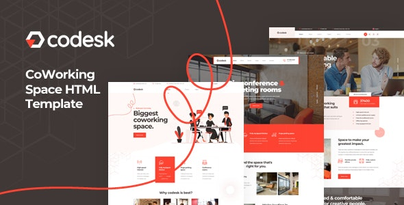 Codesk Coworking Space HTML Template