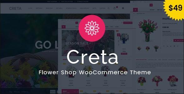 Creta Flower Shop WooCommerce WordPress Theme
