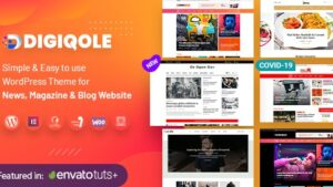 Digiqole News Magazine WordPress Theme