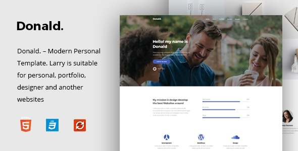 Donald Personal Onepage HTML Template