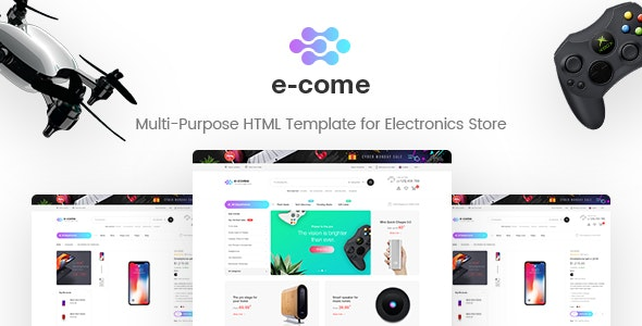 E-come Multi-Purpose HTML Template for Electronics Store