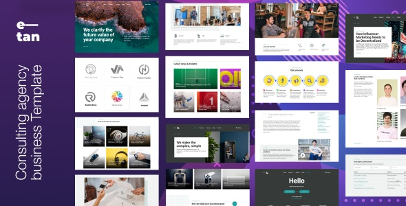 E tan Digital Consulting Agency HTML Template