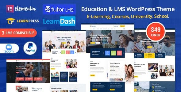 Edubin 8.10.5 Best Education LMS WordPress Theme latest version download