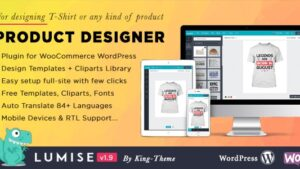 Lumise Product Designer for WooCommerce WordPress