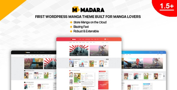 Madara WordPress Theme for Manga