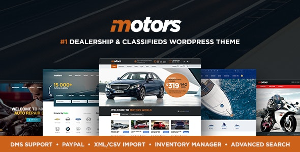 Motors Car Dealer Rental & Classifieds WordPress theme