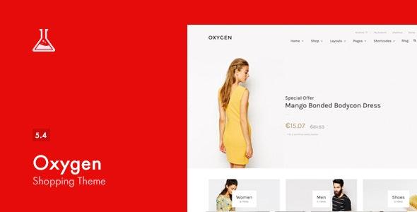 Oxygen Theme WooCommerce WordPress Theme
